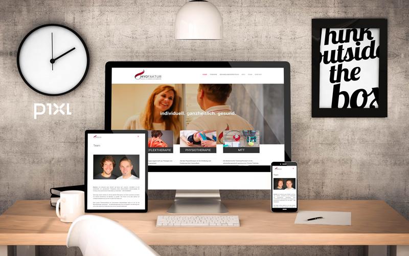 Myofaktur, Physiotherapie, Schweiz / myofaktur.ch / Homepage-Design und Programmierung / Fotoproduktion